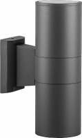 Светильник садово-парковый Feron DH0702, Техно на стену вверх/вниз, 18W 2*E27 230V, серый