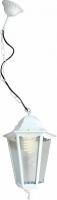 Светильник садово-парковый Feron 6105 шестигранный на цепочке 60W E27 230V, белый