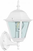 Светильник садово-парковый Feron 4201 четырехгранный на стену вверх 100W E27 230V, белый