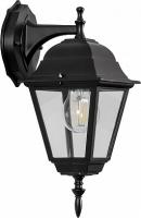 Светильник садово-парковый Feron 4202 четырехгранный на стену вниз 100W E27 230V, черный