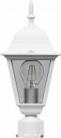 Светильник садово-парковый Feron 4203 четырехгранный на столб 100W E27 230V, белый