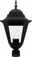Светильник садово-парковый Feron 4203 четырехгранный на столб 100W E27 230V, черный