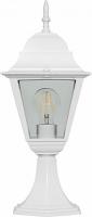 Светильник садово-парковый Feron 4204 четырехгранный на постамент 100W E27 230V, белый