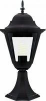 Светильник садово-парковый Feron 4204 четырехгранный на постамент 100W E27 230V, черный