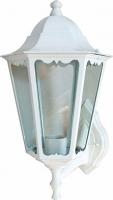 Светильник садово-парковый Feron 6201 шестигранный на стену вверх 100W E27 230V, белый