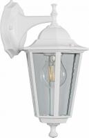 Светильник садово-парковый Feron 6202 шестигранный на стену вниз 100W E27 230V, белый