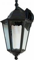 Светильник садово-парковый Feron 6202 шестигранный на стену вниз 100W E27 230V, черный