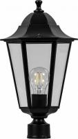 Светильник садово-парковый Feron 6203 шестигранный на столб 100W E27 230V, черный