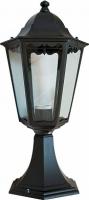Светильник садово-парковый Feron 6204 шестигранный на постамент 100W E27 230V, черный