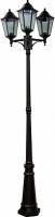 Светильник садово-парковый Feron 6215 столб 3*100W E27 230V, черный