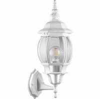 Светильник садово-парковый Feron 8101 восьмигранный на стену вверх 100W E27 230V, белый