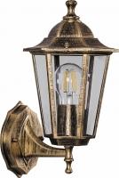 Светильник садово-парковый Feron 6101 шестигранный на стену вверх 60W E27 230V, черное золото