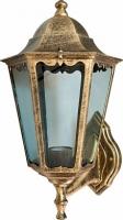 Светильник садово-парковый Feron 6201 шестигранный на стену вверх 100W E27 230V, черное золото