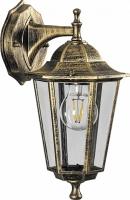 Светильник садово-парковый Feron 6202 шестигранный на стену вниз 100W E27 230V, черное золото