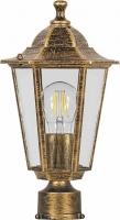 Светильник садово-парковый Feron 6203 шестигранный на столб 100W E27 230V, черное золото