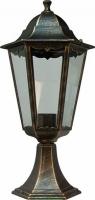 Светильник садово-парковый Feron 6204 шестигранный на постамент 100W E27 230V, черное золото