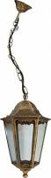 Светильник садово-парковый Feron 6205 шестигранный на цепочке 100W E27 230V, черное золото