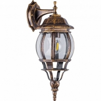 Светильник садово-парковый Feron 8102 восьмигранный на стену вниз 100W E27 230V, черное золото