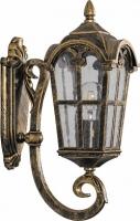 Светильник садово-парковый Feron PL102 четырехгранный на стену вверх 60W 230V E27, черное золото