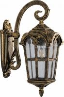 Светильник садово-парковый Feron PL103 четырехгранный на стену вниз 60W 230V E27, черное золото