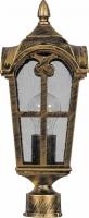 Светильник садово-парковый Feron PL104 четырехгранный на столб 60W 230V E27, черное золото