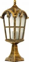 Светильник садово-парковый Feron PL105 четырехгранный на постамент 60W 230V E27, черное золото