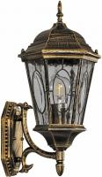 Светильник садово-парковый Feron PL150 шестигранный на стену вверх 60W E27 230V, черное золото