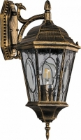 Светильник садово-парковый Feron PL151 шестигранный на стену вниз 60W E27 230V, черное золото