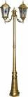 Светильник садово-парковый Feron PL157 столб шестигранный 2*60W E27 230V, черное золото