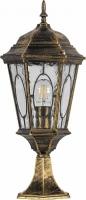 Светильник садово-парковый Feron PL163 шестигранный на постамент 60W E27 230V, черное золото
