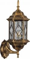 Светильник садово-парковый Feron PL121 шестигранный на стену вверх 60W E27 230V,черное золото