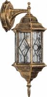 Светильник садово-парковый Feron PL122 шестигранный на стену вниз 60W E27 230V, черное золото