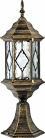 Светильник садово-парковый Feron PL124 шестигранный на постамент 60W E27 230V, черное золото