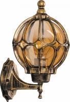 Светильник садово-парковый Feron PL3701 круглый на стену вверх 60W 230V E27, черное золото