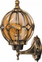Светильник садово-парковый Feron PL3801 круглый на стену вверх 60W 230V E27, черное золото
