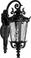 Светильник садово-парковый Feron PL4002 круглый на стену вниз 60W 230V E27, черный