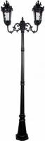 Светильник садово-парковый Feron PL4008 столб круглый 2*60W 230V E27, черный