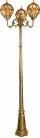 Светильник садово-парковый Feron PL3809 столб круглый 3*60W 230V E27, черное золото