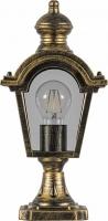 Светильник садово-парковый Feron PL4013 четырехгранный на постамент 60W E27 230V, черное золото
