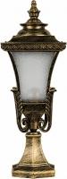 Светильник садово-парковый Feron PL4023 четырехгранный на постамент 60W E27 230V, черное золото