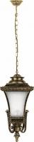 Светильник садово-парковый Feron PL4024 четырехгранный на цепочке 60W E27 230V, черное золото