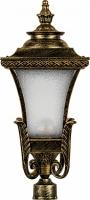 Светильник садово-парковый Feron PL4025 четырехгранный на столб 60W E27 230V, черное золото