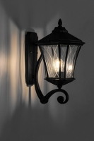 Светильник садово-парковый Feron PL4031 восьмигранный на стену вверх 60W 230V E27, черный
