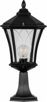 Светильник садово-парковый Feron PL4033 восьмигранный на постамент 60W 230V E27, черный