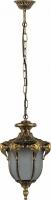 Светильник садово-парковый Feron PL4054 шестигранный на цепочке 60W 230V E27, черное золото