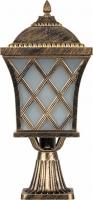 Светильник садово-парковый Feron PL4063 четырехгранный на постамент 100W E27 230V, черное золото