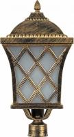 Светильник садово-парковый Feron PL4065 четырехгранный на столб 100W E27 230V, черное золото