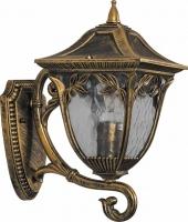 Светильник садово-парковый Feron PL4071 четырехгранный на стену вверх 60W E27 230V, черное золото