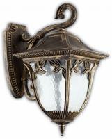 Светильник садово-парковый Feron PL4072 четырехгранный на стену вниз 60W E27 230V, черное золото
