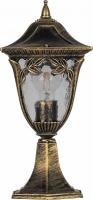 Светильник садово-парковый Feron PL4074 четырехгранный на постамент 60W E27 230V, черное золото